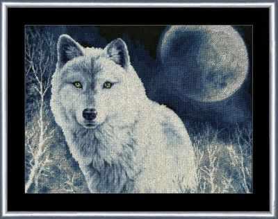 Набор для вышивания Золотое Руно ДЖ-029 Белый волк. Дикие животные