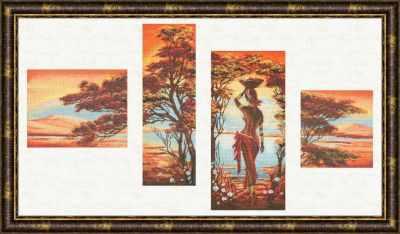 Набор для вышивания Золотое Руно АИ-013 Оранжевая река. Африканские истории