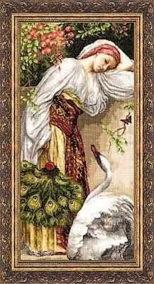 Набор для вышивания Золотое Руно ЧМ-008 Девушка с лебедем. Чудесное мгновение набор для вышивания золотое руно чм 033 масленица чудесное мгновение