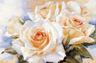2-32 Белые розы - Наборы для вышивания «Алиса»