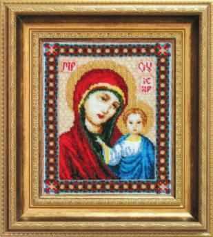 Б-035  Казанская Божия Матерь   чм - Наборы для вышивания икон «Чарiвна Мить»