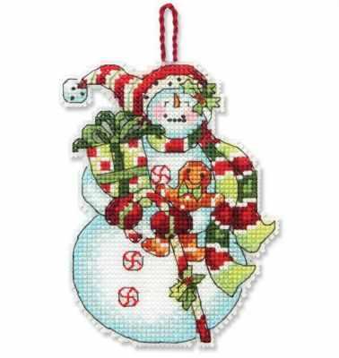 8915 DMS Снеговик со сладостями (украшение)