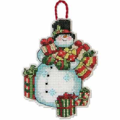 Набор для вышивания Dimensions 8896-DMS Снеговик (украшение)