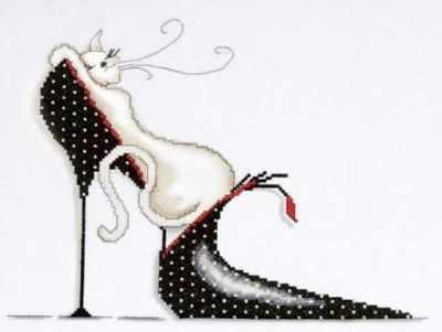 2552 Polka Dot Shoe Kitty (Design Works) - Наборы для вышивания «Design Works»
