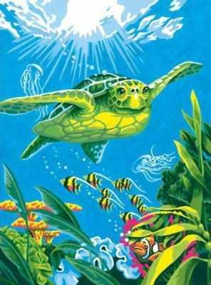 """Фото #1: 91471 DMS """"Морская черепаха"""" - раскраска"""