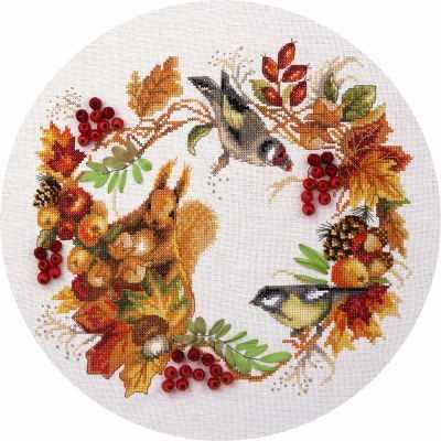 Фото - Набор для вышивания Panna PS-1615 Осенний венок набор для вышивания panna ps 1615 осенний венок