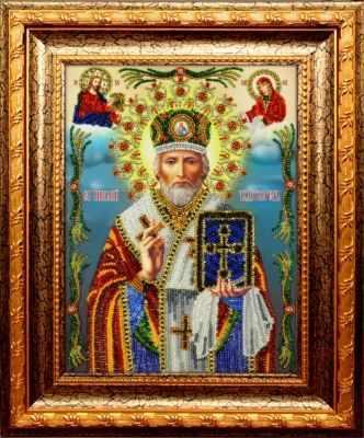 Набор для вышивания иконы Вышиваем бисером A-2 Святитель Николай Чудотворец