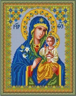 Купить со скидкой НИК 9216 Богородица Неувядаемый цвет - схема для вышивания