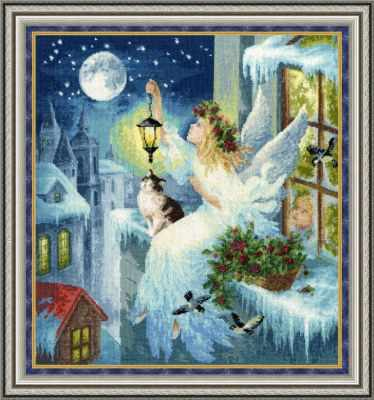 Набор для вышивания Золотое Руно СО-012 Зимняя фея. С Рождеством