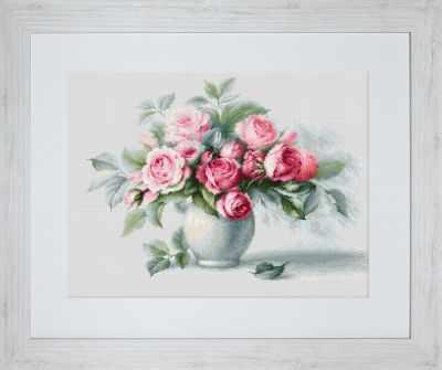 Купить со скидкой B2280 Этюд с чайными розами (Luca-S)