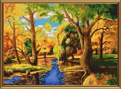 Основа для вышивания с нанесённым рисунком Nova Sloboda Бис 0142 Ранняя осень
