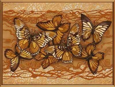 Основа для вышивания с нанесённым рисунком Nova Sloboda Бис 1272 Полет бабочек