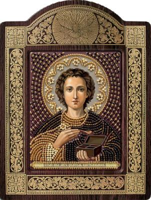 Набор для вышивания иконы Nova Sloboda СН 8033 Св. Вмч. Целитель Пантелеимон набор для вышивания иконы nova sloboda се 7108 св великомученик и целитель пантелеймон