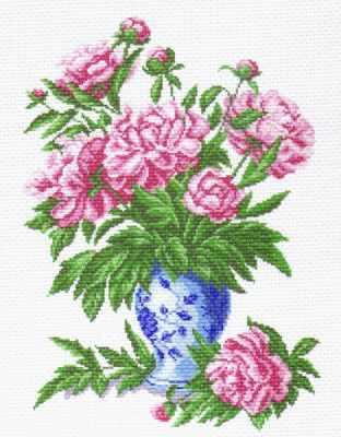Основа для вышивания с нанесённым рисунком Матрёнин Посад 1238 Пионы (МП) основа для вышивания с нанесённым рисунком матрёнин посад 950 восточные тайны мп