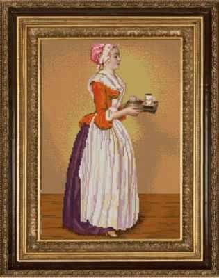 Основа для вышивания с нанесённым рисунком Конёк НИК 9753 Шоколадница - схема для вышивания (Конёк)