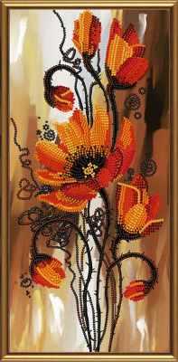 Основа для вышивания с нанесённым рисунком Nova Sloboda Бис 4268 Ароматные маки (рисунок на ткани)