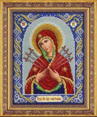 Набор для вышивания иконы Паутинка Б1026 Богородица Семистрельная (Паутинка)