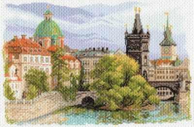 1634 Прага - рисунок на канве (МП)