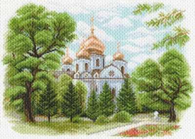 1638 Собор Александра Невского в Краснодаре - рисунок на канве (МП)