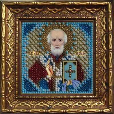 010-ПМИ Св.Николай Чудотворец (ВМ) - Наборы для вышивания икон «Вышивальная мозаика»