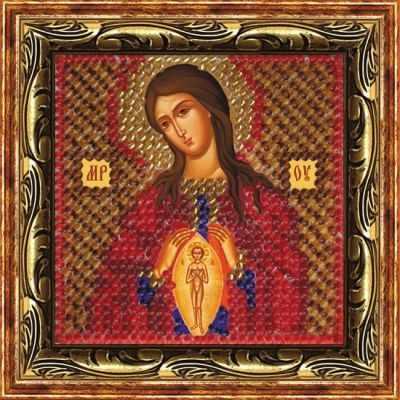 066-ПМИ Божия Матерь «Помощница в родах» (ВМ) - Наборы для вышивания икон «Вышивальная мозаика»