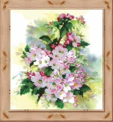 Фото #1: 148-ЦВ Акварельные цветы. Ветка яблони (ВМ)