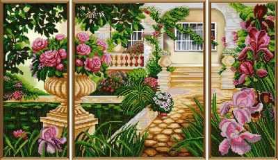 Основа для вышивания с нанесённым рисунком Nova Sloboda В 30009 Дом моей мечты