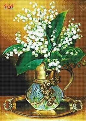Купить со скидкой 71016,57 Букет ландышей - мозаика Anya
