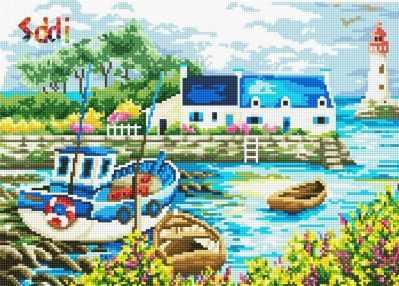 Мозаичная картина Anya Алмазная вышивка 71078,01 Тихая бухта - мозаика Anya