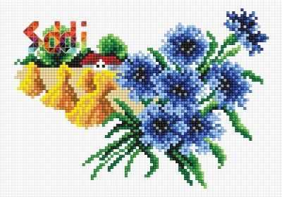 Мозаичная картина Anya Алмазная вышивка 71085,68 Август - мозаика Anya
