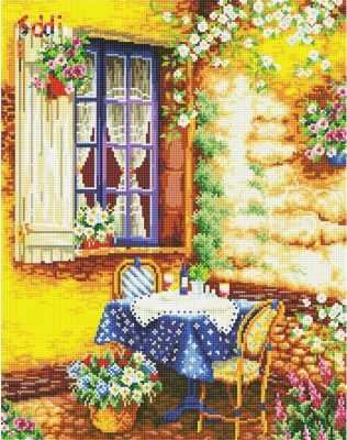 Мозаичная картина Anya Алмазная вышивка 71032,01 На веранде - мозаика Anya