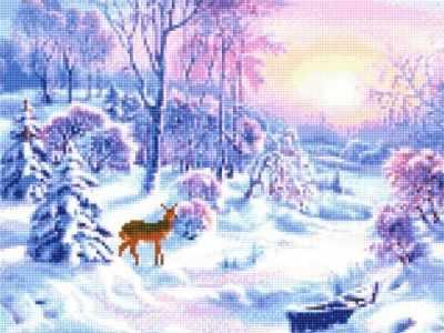 Купить со скидкой 905001 Зимний день - мозаика Anya