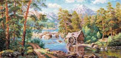 3-17 Пейзаж с мельницей