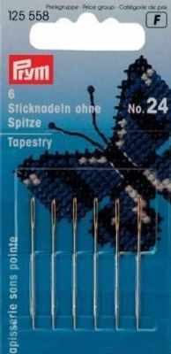 Игла Prym 125558 Иглы для вышивания со скруглённым остриём 24 PRYM игла prym 125543 иглы вышивальные тонкие 5 10 prym
