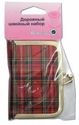Аксессуар для рукоделия HEMLINE 694 Набор швейный дорожный в кошельке металл, хлопок