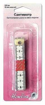 Инструменты для шитья HEMLINE 254 Сантиметр с градацией в сантиметрах, 150 см, 16 мм