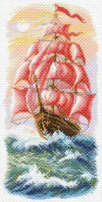 Основа для вышивания с нанесённым рисунком Матрёнин Посад 1640 Алые паруса - рисунок на канве (МП) махаон алые паруса а грин machaon