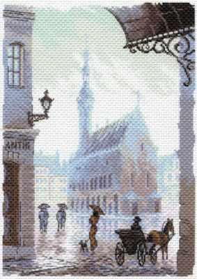 Основа для вышивания с нанесённым рисунком Матрёнин Посад 1643 Старый город - рисунок на канве (МП) канва с нанесенным рисунком матренин посад малинка для вышивания крестом 16 х 20 см