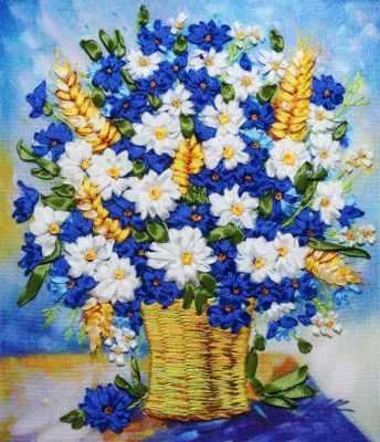 Набор для вышивания Рисуем лентами Увл-09 Летние цветы