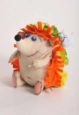 ПФЗД-1005 Счастливый Ежик  игрушка (Перловка) - Наборы из фетра