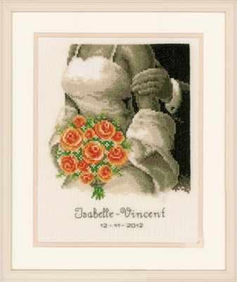 PN-0012176 Свадьба. Букет роз (Vervaco)