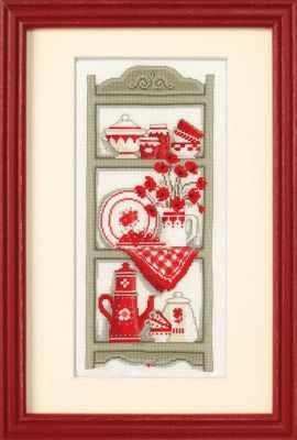 Набор для вышивания Vervaco PN-0012174 Посуда в красно-белых тонах