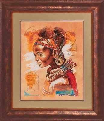 Набор для вышивания Lanarte PN-0008009 Африканка