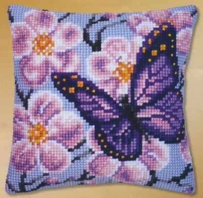 Набор для вышивания Vervaco PN-0008501 Сиреневая бабочка
