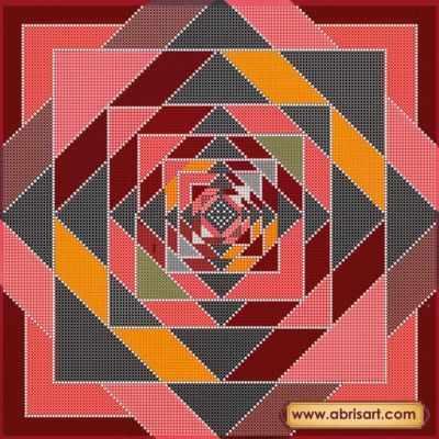 АС-250 Схема  Декоративный орнамент  - «Абрис Арт» (схемы для вышивки на холсте)