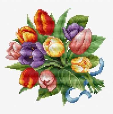 Фото - Набор для вышивания Белоснежка 6013-14 Тюльпаны 6013