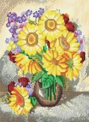 Алмазная мозаика Белоснежка Алмазная вышивка 614-RS-R Подсолнухи (Белоснежка) белоснежка алмазная мозаика белоснежка волк 40х30 см