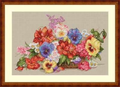К-13 Садовые цветы (Мережка) - Наборы для вышивания «Мережка»