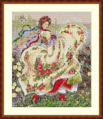 К-15 Праздничный платок (Мережка) - Наборы для вышивания «Мережка»