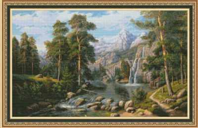 1101 Озеро в горах - набор для вышивания (Юнона)